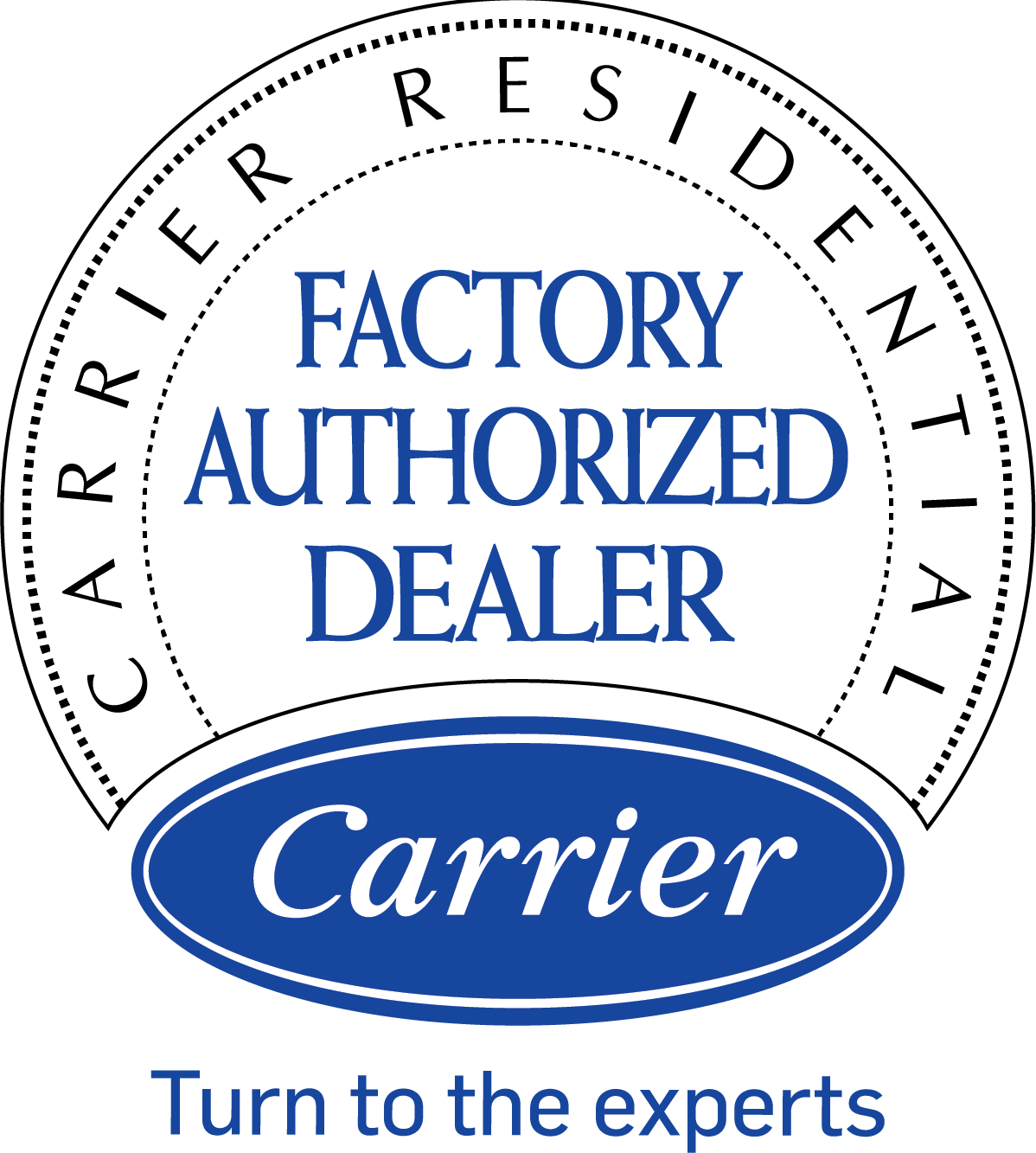carrier residential factory authorized dealer logo